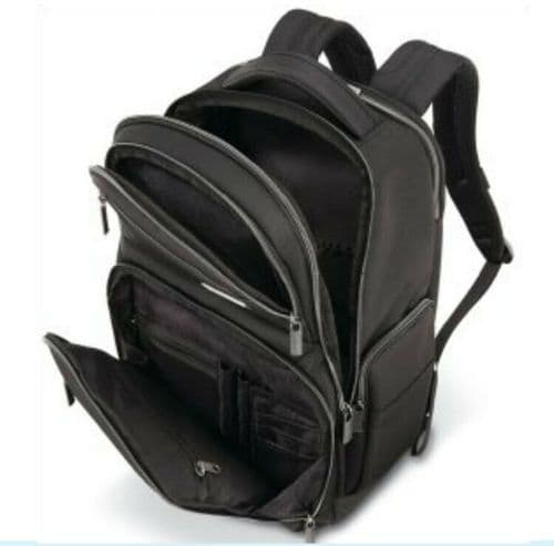 Samsonite Modern Utility Double Shot Backpack Laptop & Tablet Compartments Black